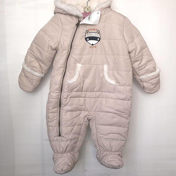Тепленький комбинезон на меху для малышей из Германии с сайта C&A, р-р 74