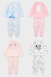 Теплые флисовые пижамы для девочек в наличии, пр-во Германии, с сайта C&A