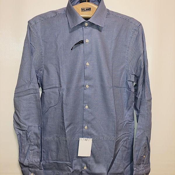 Фирменная немецкая рубашка с красивым мелким рисунком с C&A, р-ры S, M, XL