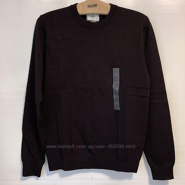 Классный хлопковый свитер, цвет бордовый меланж, Германия, р-ры от M до 2XL