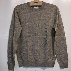Бежевый меланж свитер C&A, хлопок, пр-во Германии, в наличии р-р от S до 2XL