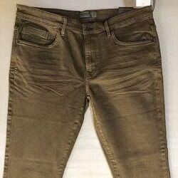Стрейчевые коттоновые штаны песочного цвета с C&A, Германия, р-р 38