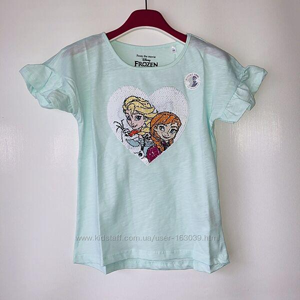 Одна футболка - два рисунка, это паетки-перевертыши, девочки их обожают
