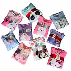 Прелестные мягкие и теплые флисовые пижамки для девочек, р-ры от 92 до 140