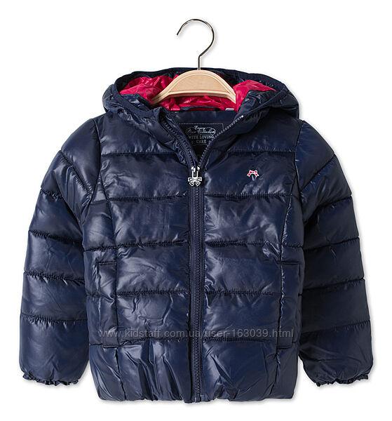 Темно-синяя демисезонная курточка без меха и флиса из Германии, р-ры 92, 98