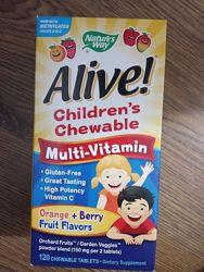 Мультивитамины для детей  Alive, 120  шт