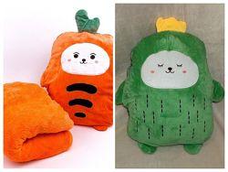 Детский плед-игрушка-подушка 3в1. Мягкая игрушка с пледом из микрофибры.