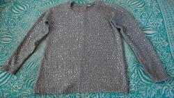 Симпатичный свитерок с паетками