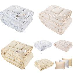 Одеяла фабричные шерсть, бамбук, холофайбер, лебпух, зимние, всесезонные