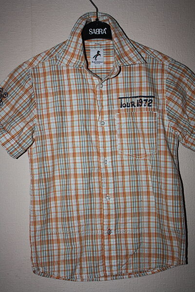 Рубашка в клеточку ф. Palomino , ф. H&M L. O. G. Gр-128, мальчику 7/8 лет, отличное