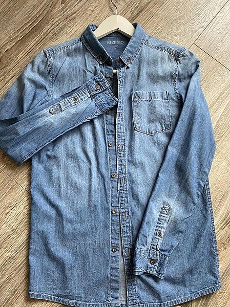 В состоянии новой, джинсовая рубашка на 12 лет.