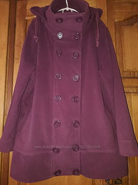 Осенняя флисовая курточка большой размер ОГ 130см