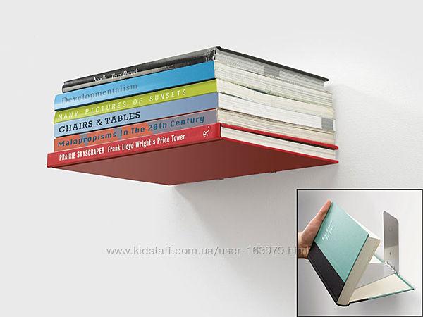 Настенная невидимая скрытая полка для книг и журналов