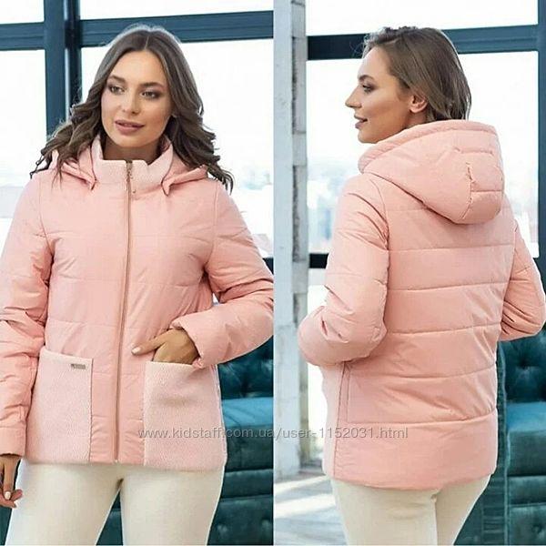 Куртка женская демисезонная комбинированная размеры 42 - 56