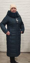 Зимнее пальто женское большие размеры 50-60. Длинный пуховик