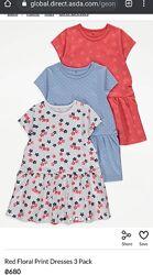 Летние фирменные  платья George 4-6,5-6, 6-7 лет