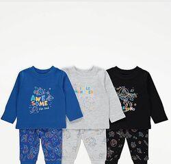 пижамы пижамки George  для мальчиков и девочек 12-18, 18-24, 2-3