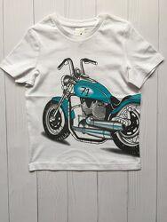 Белая детская футболка на мальчика 5-6 лет C&A Palomino Германия Размер 116