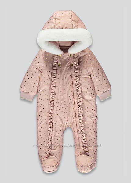 Детский зимний комбинезон для девочки Matalan Англия Размер 68-74, 74-80