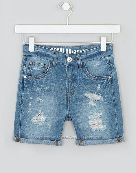 Джинсовые шорты для мальчика синие Matalan Англия Размер 134, 158 оригинал