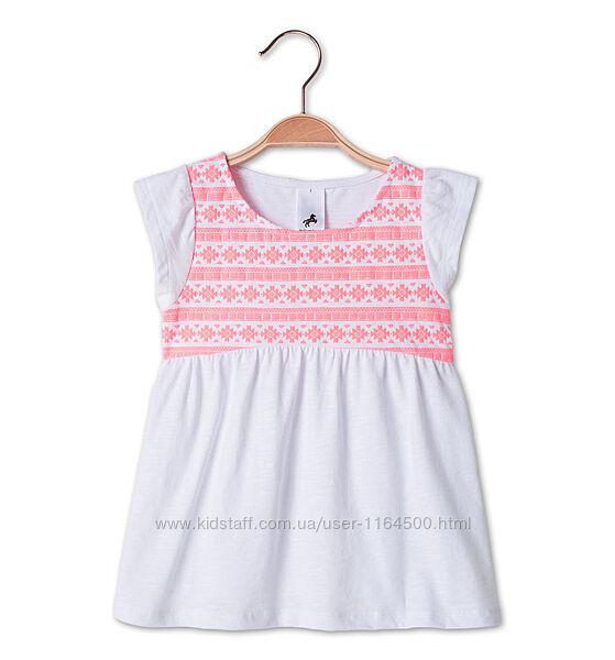Белая футболка на девочку 4-5 лет C&A Palomino Германия Размер 110