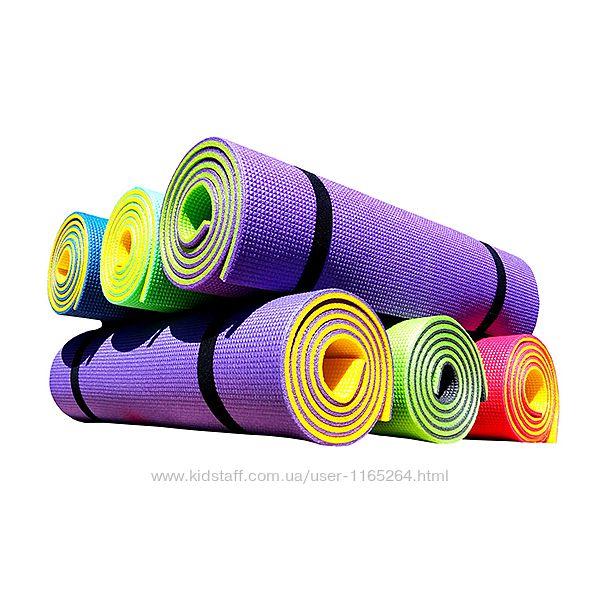 Коврики для йоги и фитнеса PREMIUM, двухслойные