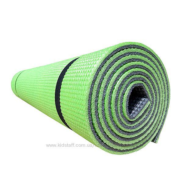 Коврик для йоги и фитнеса PREMIUM-8, двухслойный 1800х600х8мм