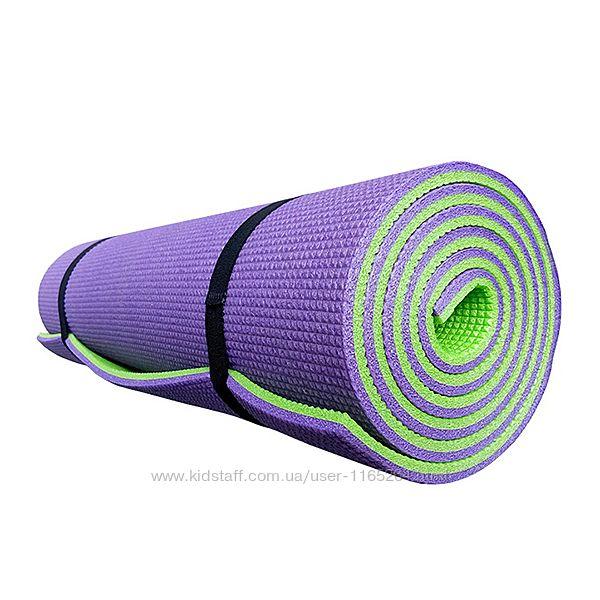 Коврик для йоги и фитнеса PREMIUM-9, двухслойный 1800х600х9мм
