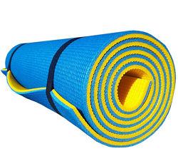 Коврик для йоги и фитнеса PREMIUM-10, двухслойный 1800х600х10мм
