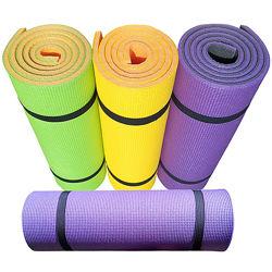 Коврик для йоги и фитнеса PREMIUM-12, двухслойный 1800х600х12мм