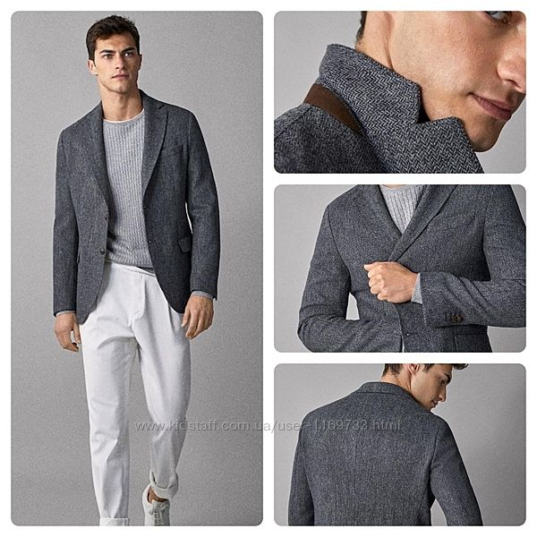 Стильный меланжевый пиджак Massimo Dutti. Испания. Оригинал.