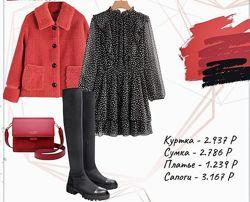 Новинка 2021. Роскошное чёрное платье в горохи от Zara. Испания.