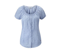 Легкая. воздушная блуза рубашка с красивым вырезом tchibo