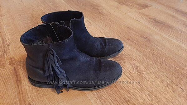 Ботинки Next натуральный замш р. 36, 22.5 см по стельке