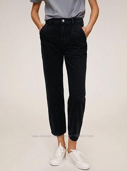 Черные джинсы с защипами от MANGO, 36, 38, 40, 42, 44р, Испания