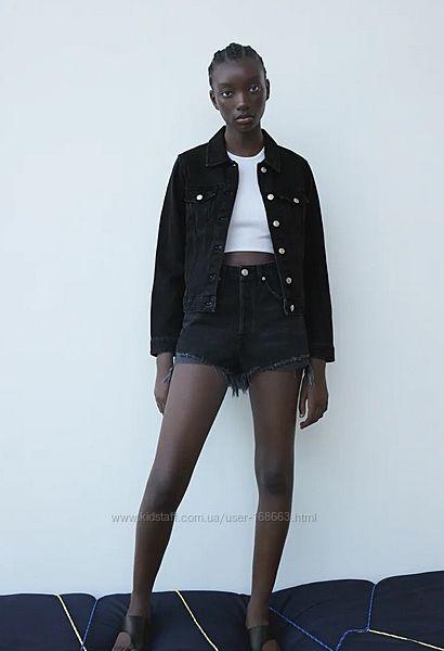 Джинсовые шорты с высокой посадкой Zara, 38, 44р, оригинал
