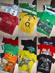 Футболки спортивные Nike, Adidas, Umro, H&M, Next 2-6 лет, 92-116см