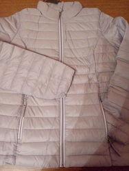 Новая курточка демисезон ультра лайт стёганая серая серебряная весну