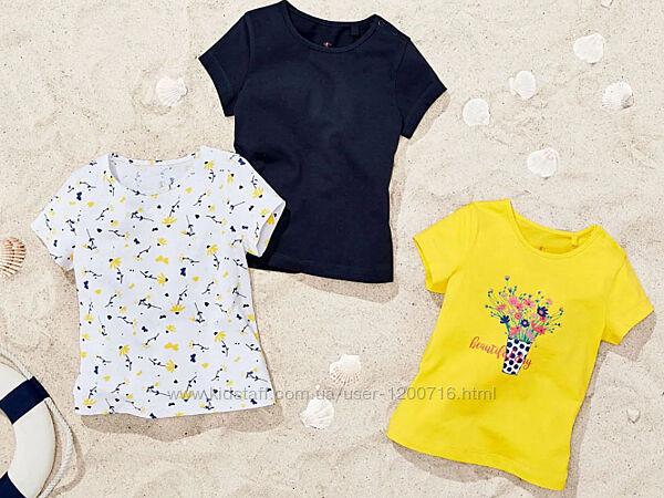 Комплект новых футболок lupilu девочка цена за 3 шт.