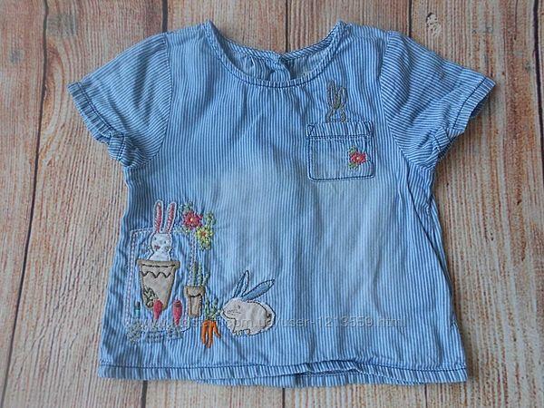 Блузка рубашка на девочку next 1-1,5года.