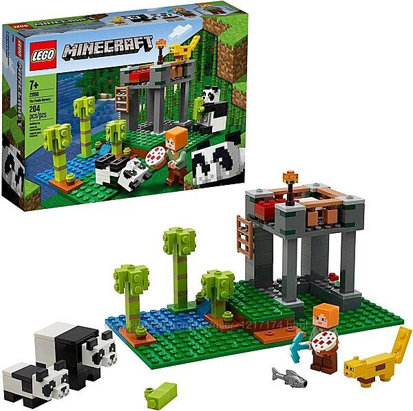 Конструктор Лего Майнкрафт 21158 Питомник панд 204 детали LEGO Minecraft