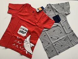 Набор футболок Lupilu футболка для мальчика  98-104 2-4г, 110-116 4-6л