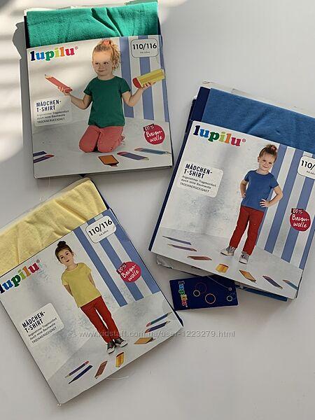 Футболка lupilu для девочки 110/116 4-6л цвета в ассортименте