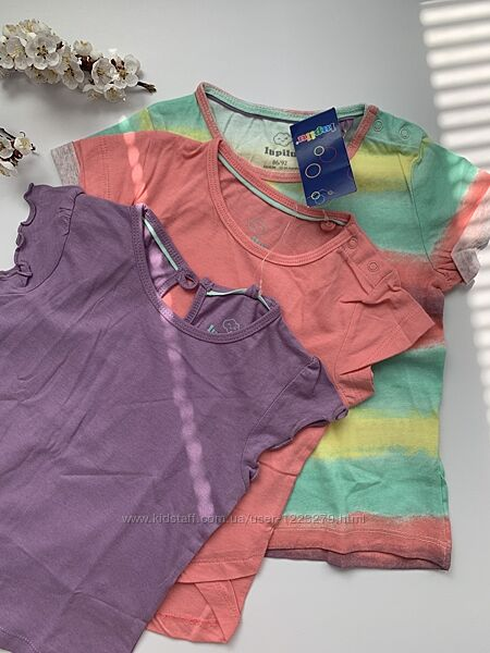 Набор футболок Lupilu футболка для девочки 86/92, 98/104