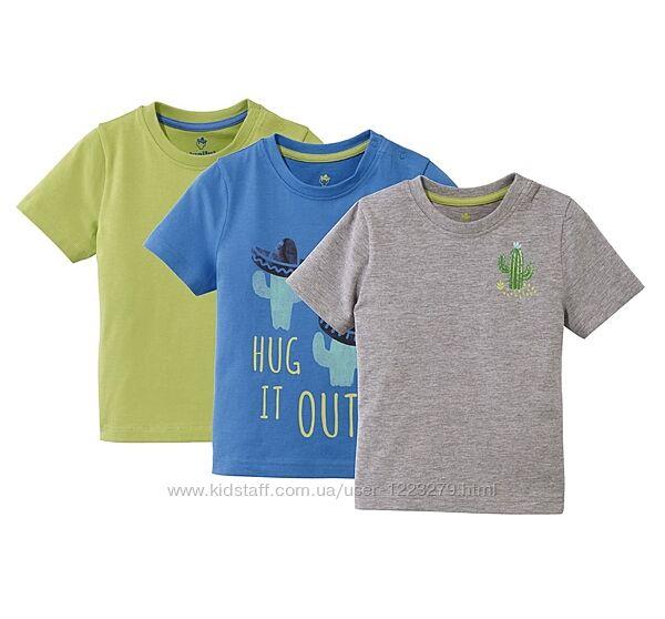 Набор футболок Lupilu футболка для мальчика 4-6л 110-116