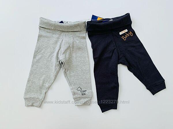 Ползунки штаны набор для мальчика lupilu 62-68 2-6м, 74-80 6-12м
