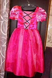 Карнавальное новогоднее двухстороннее платье на рост 110-116см.