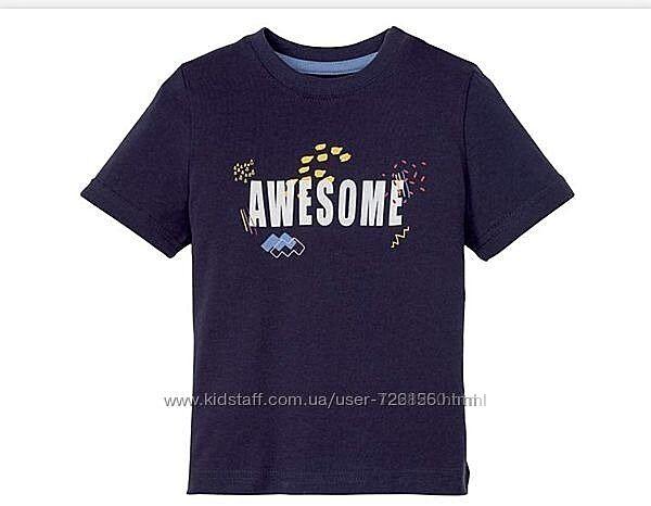 Хлопковая летняя футболка на мальчика Lupilu Германия