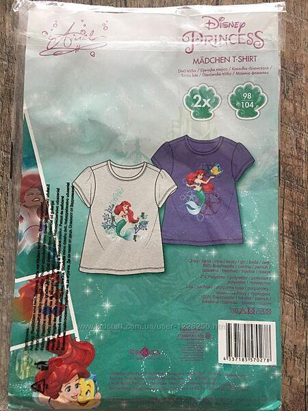 Стильный набор футболок на девочку Lupilu by Disney Германия