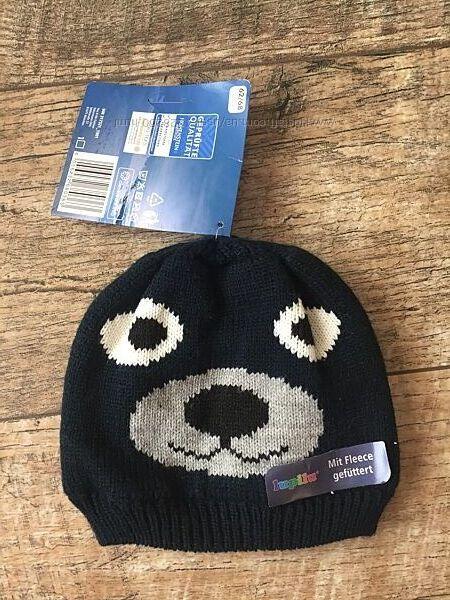 Теплая вязаная зимняя термо шапка Lupilu Германия